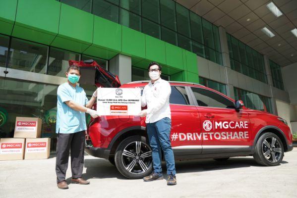 MG Motor Indonesia Mendonasikan 10.000 Unit APD dan Sembako