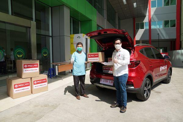 MG Indonesia Lanjutkan Donasi Covid-19 ke Delapan Titik di Jabodetabek