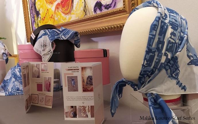Fesyen Desainer Malika Louvre Rilis Vintage Scarf Series