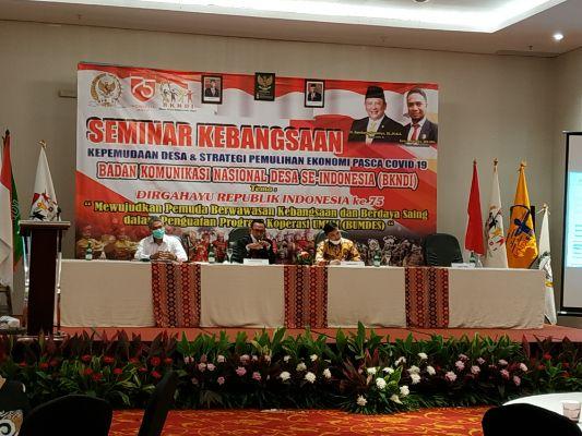 BKNDI Selenggarakan Seminar Kebangsaan Bertajuk Strategi Pemulihan Ekonomi Pasca Covid-19