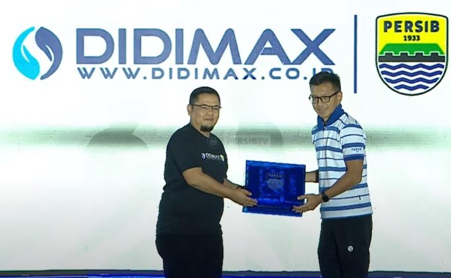 Gelontorkan Dana 10 Milyar DIDIMAX Resmi Jadi Sponsor PERSIB Bandung  | jakartainsight.com