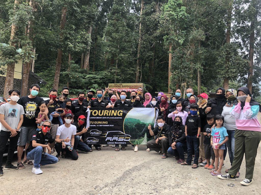 Touring Ceria Agya-Ayla Solidaritas ke Situ Gunung Sukabumi