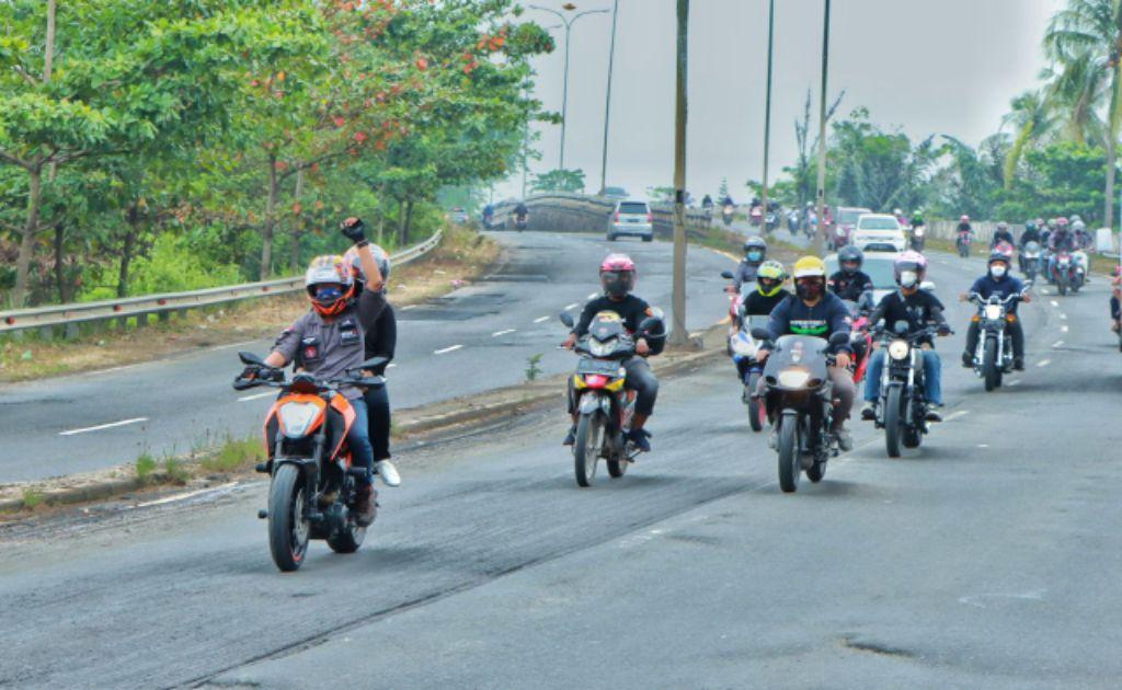 Komunitas Bold Riders Lampung Gelar Kopdar Gabungan Perdana Pasca Pandemi