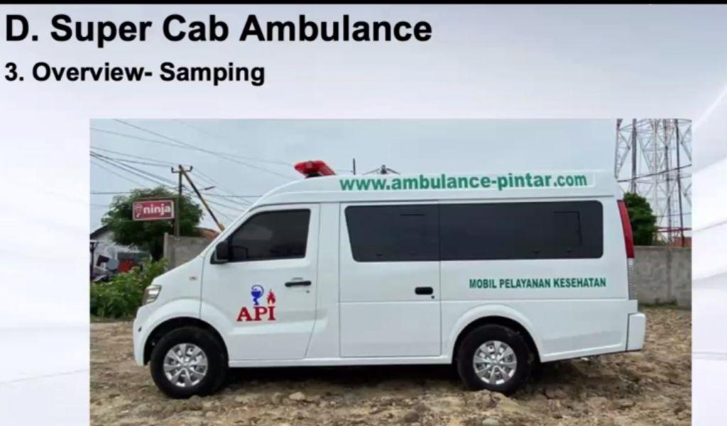 DFSK Super Cab yng diubah desain menjadi ambulans. | jakartainsight.com