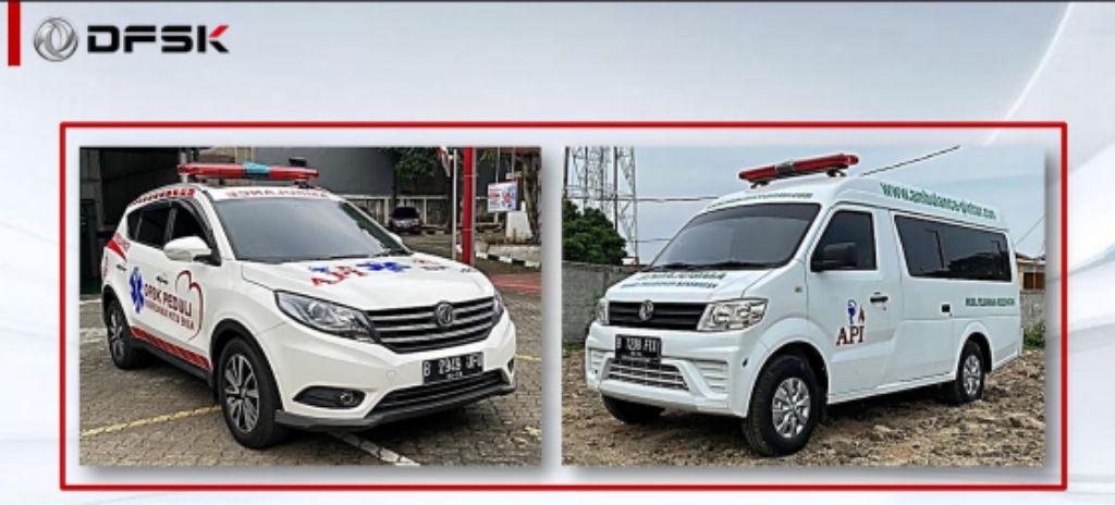 DFSK Glory 580 dan Gelora yang didisain menjadi kendaraan ambulans. | jakartainsight.com