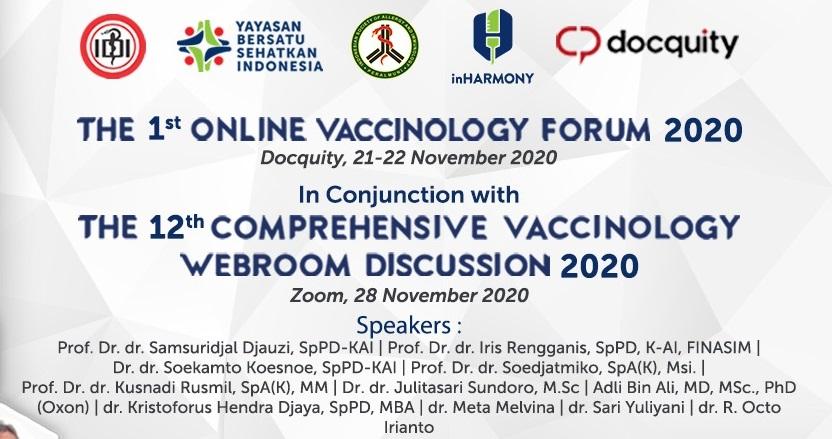 Online Vaccinology Forum 2020 Soroti Fakta Vaksin Covid-19 Hingga Pencegahan Twindemics