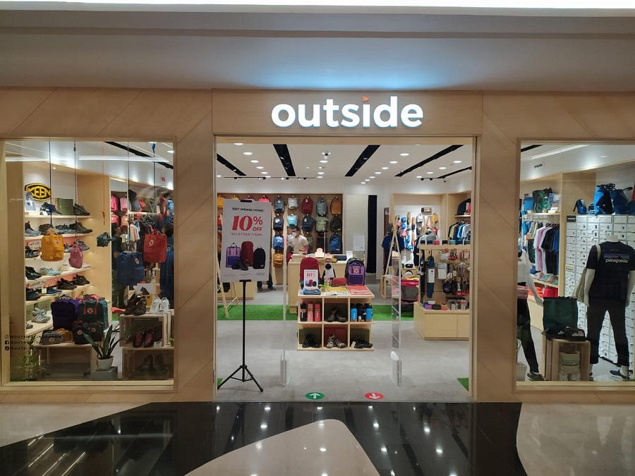 One Stop Shopping Produk Multi Brand Outdoor Lifestyle 'Outside' Resmikan Store di Plaza Indonesia