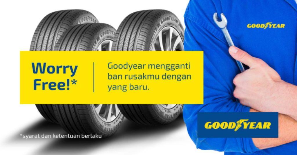 Paket promo ban dan asuransi penggantian dari Goodyear Indonesia. | jakartainsight.com