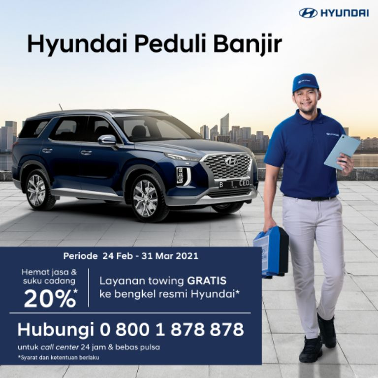 PT Hyundai Motors Indonesia Sediakan ProgramBagi Konsumen yang Terdampak Banjir, Simak Selengkapnya! | jakartainsight.com