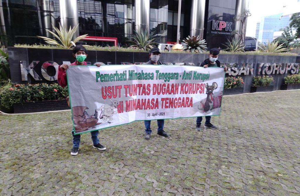Laporan tuntutan dugaan korupsi Bupati Minahasa Tenggara kepada KPK. | jakartainsight.com
