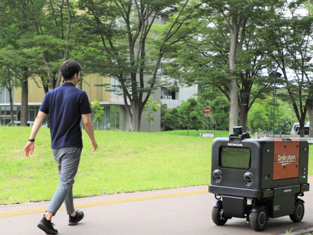 Jalankan Eksperimen Demonstrasi Robot Pengiriman Otomatis, Honda Gandeng Rakuten | jakartainsight.com