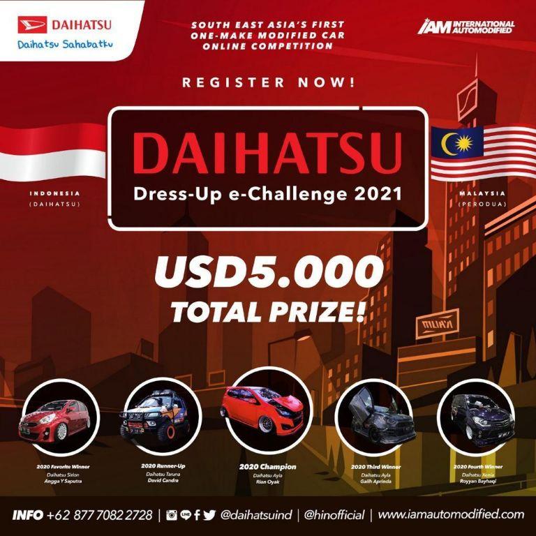 Daihatsu Gelar Dress-up e-Challenge Lintas Negara