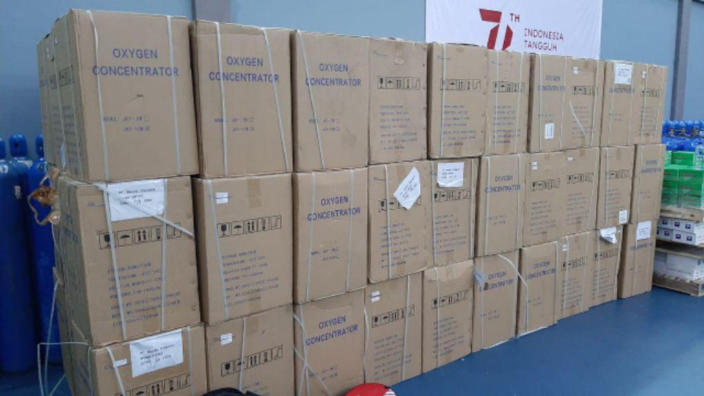 Honda donasikan 200 unit konsentrator oksigen kepada Kemenperin.   jakartainsight.com
