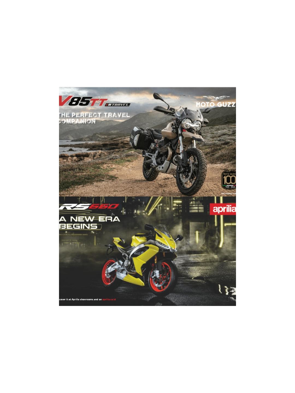 Dua dari empat produk terbaru PT Piaggio Indonesia, Aprilia RS 660 dan Moto Guzzi V85 TT Travel. | jakartainsight.com