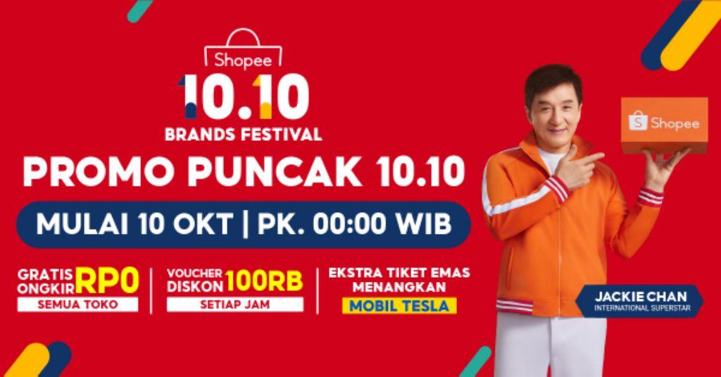 Siap-siap! Saksikan Perayaan Istimewa Puncak Kampanye Shopee 10.10 Brands Festival