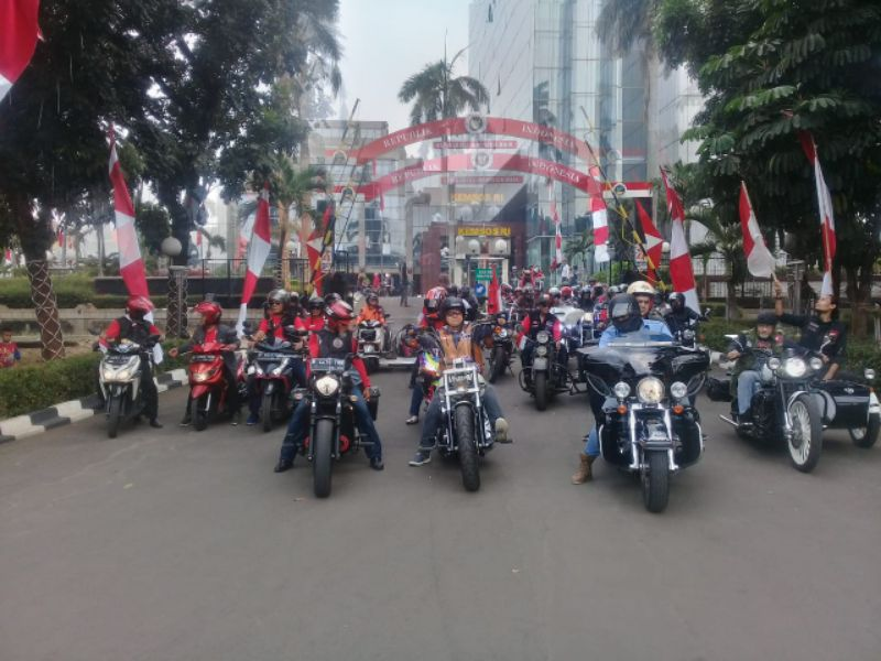 BFCI Undang Komunitas Motor Hadiri Upacara Bendera Bersama