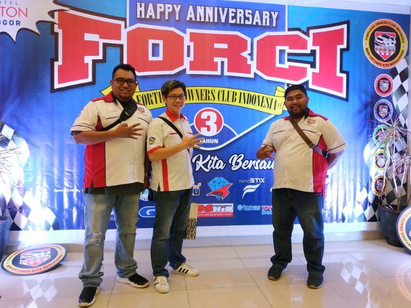 Sambut 3th Anniversary, FORCI Deklarasikan Chapter Jabodetabek dan Gala Dinner di Aston Bogor