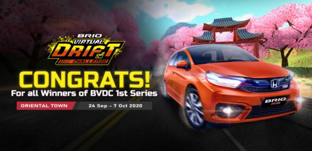 Honda Umumkan Juara Brio Virtual Drift Challenge Seri Pertama