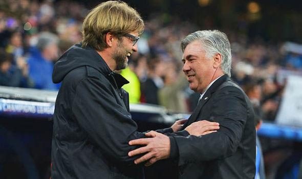 Temui Klopp Usai Pertandingan, Ancelotti : Liverpool akan terus melaju dan jadi juara Liga Champions